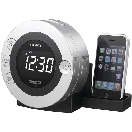 Sony CD Clock Radio for iPod and iPhone, ICF-CD3iPSIL