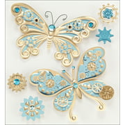 Jolee's Boutique Steampunk Butterflies Stickers, 6 Piece