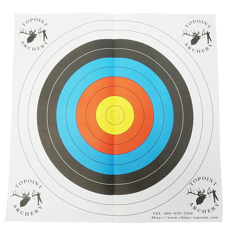 """Safari Choice Bullseye & Gun Paper Target 25"""" x 25"""" (60cm), 5 Pack"""