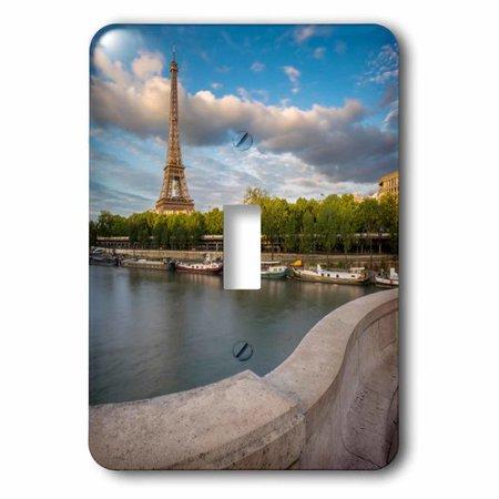 3dRose Setting Sunlight on Eiffel Tower and River Seine Paris France Socket Plate (Sunlight Socket Assembly)