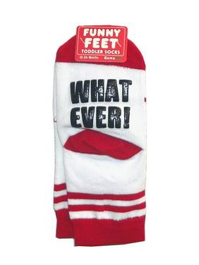 """Gama Go Funny Feet """"Whatever!"""" Toddler Socks"""