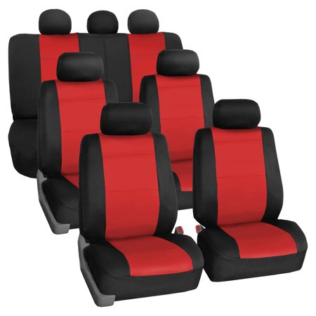 Neoprene 3 Row Car Seat Covers For SUV VAN TRUCK Airbag Compatible Split Bench 7