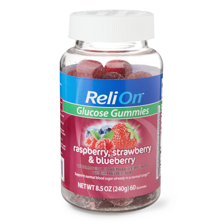 ReliOn Glucose Gummies, 60 Count