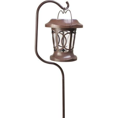 moonrays 91399 solar powered bradbury hanging led plastic stake light brown. Black Bedroom Furniture Sets. Home Design Ideas