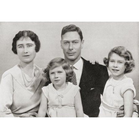 George Vi With His Wife Queen Elizabeth Elizabeth Angela Marguerite Bowes-Lyon And Their Children The Princesses Margaret And Elizabeth Circa 1937 From The Coronation Of Their Majesties King George Vi