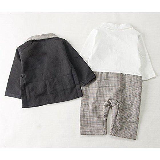 689e71caf716 StylesILove Baby Boy Tuxedo Romper Onesie and Jacket 2-piece (12-18 Months)  - Walmart.com