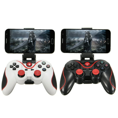 Wireless Controller Video Game - Wireless Gamepad Gaming Controller for Android Smartphone with Mobile Phone Video Games Bracket