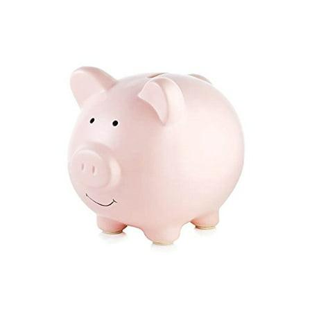 Tiny Ideas Ceramic Pink Piggy Bank, Pink](White Ceramic Piggy Bank)