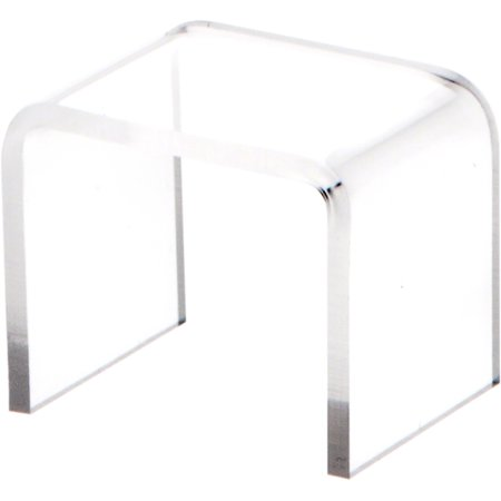 """Plymor Brand Clear Acrylic Square Riser (3/32"""" thick)"""