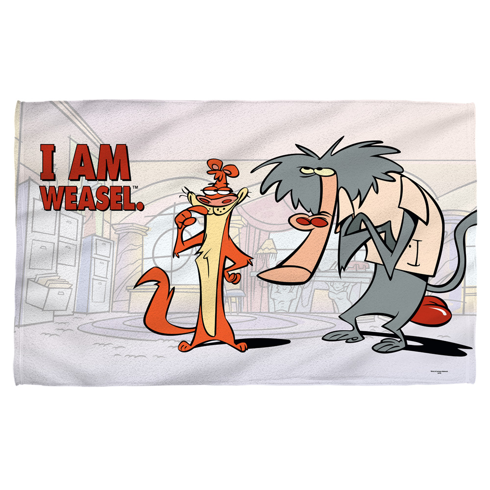 I Am Weasel Buddies Bath Towel White 27X52
