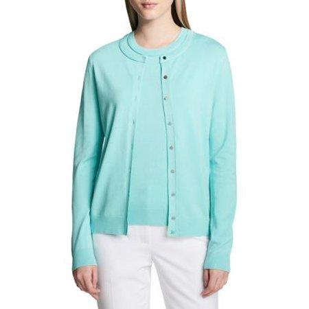 Rib-Knit Cardigan Calvin Klein Cotton Cardigan