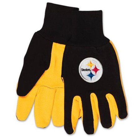 McArthur 9960690676 Pittsburgh Steelers Two Tone Adult Size Glove - image 1 of 1