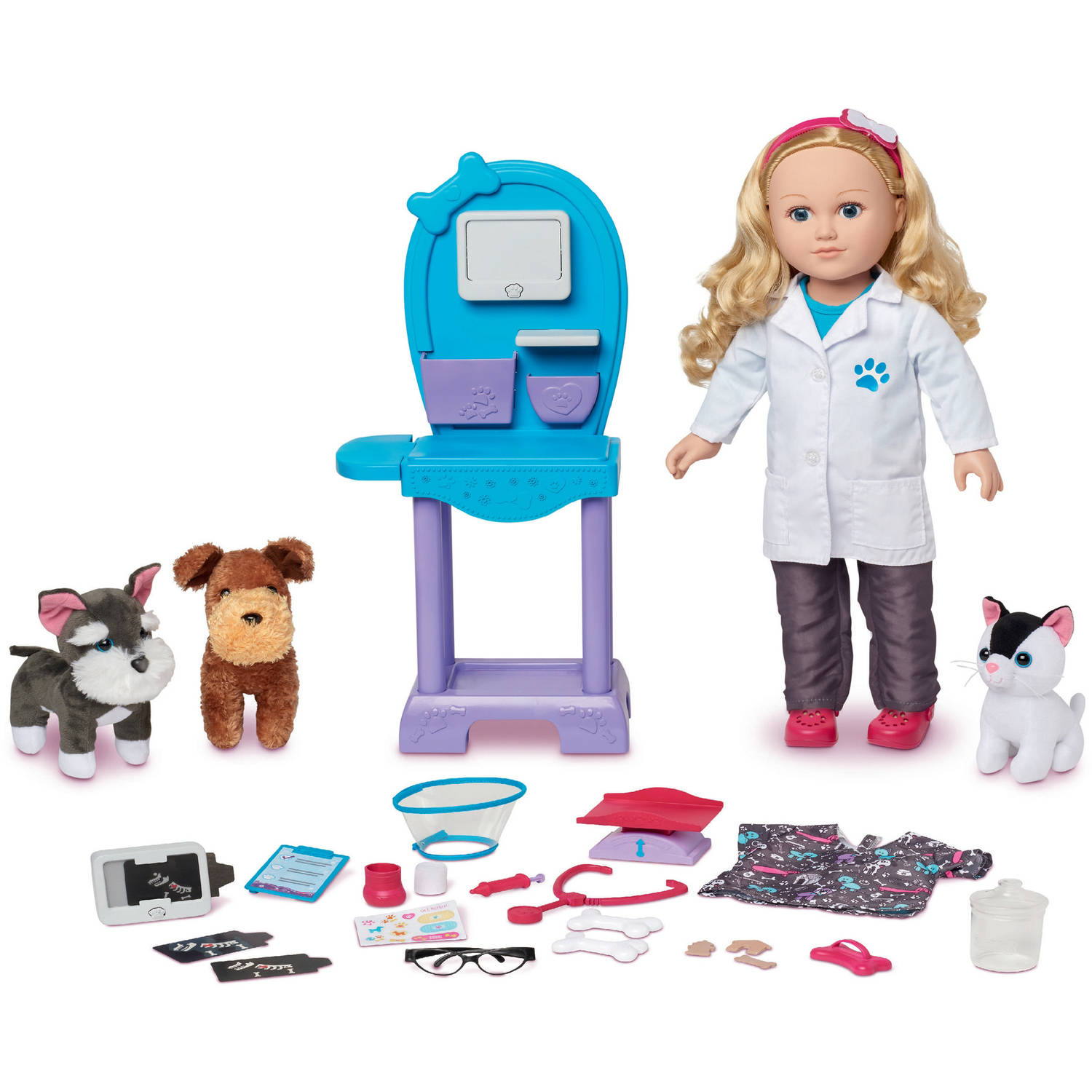 "My Life As 18"" Doll of the Year Vet Doll Play Set, Caucasian with Blonde Hair"