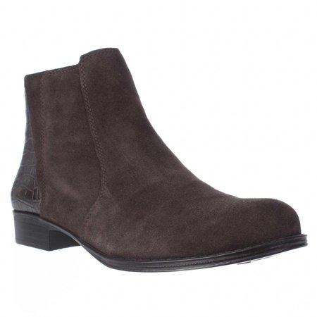 Brown Suede Zip (Womens naturalizer Jump Side Zip Ankle Boots - Brown)