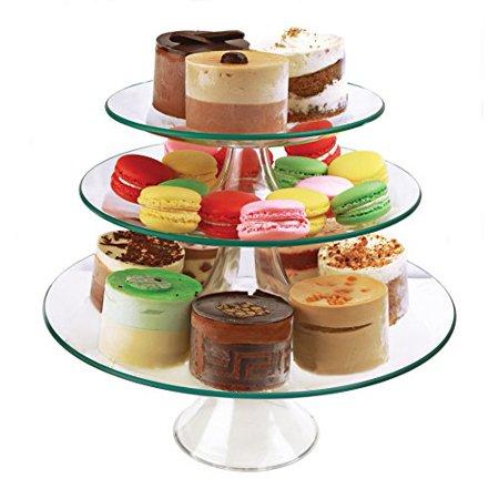 Palais Glassware Elegant High Quality Glass Cupcake or Cake Stand - Party Centerpiece (8