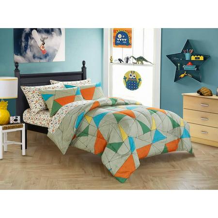 Mainstays Kids California Safari Bed in a Bag Bedding