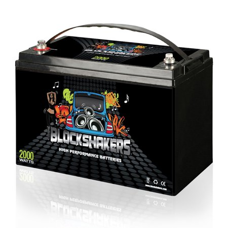 Black 12V 110AH 2000 Watts M8/T8 High Current Battery replaces Kinetik HC2400