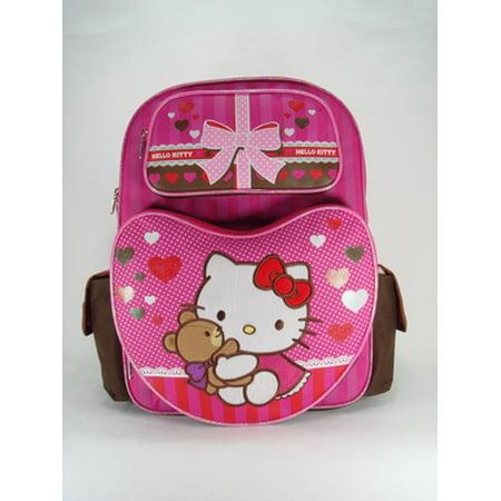 (Backpack - - Pink Brown Bear Hug (Large School Bag) New 630379)