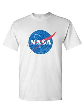 NASA retro logo vintage look space 80's - Mens Cotton T-Shirt
