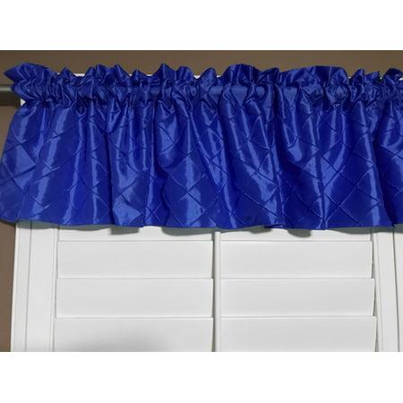 pintuck taffeta window valance 52 wide royal blue