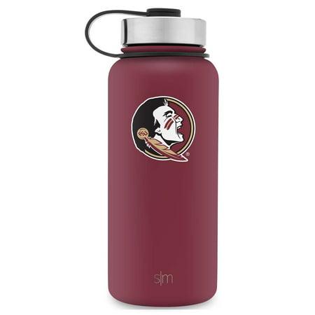 Florida Bottle - Simple Modern 32oz Summit Water Bottle - Florida State Seminoles Vacuum Insulated 18/8 Stainless Steel Travel Mug - Florida State