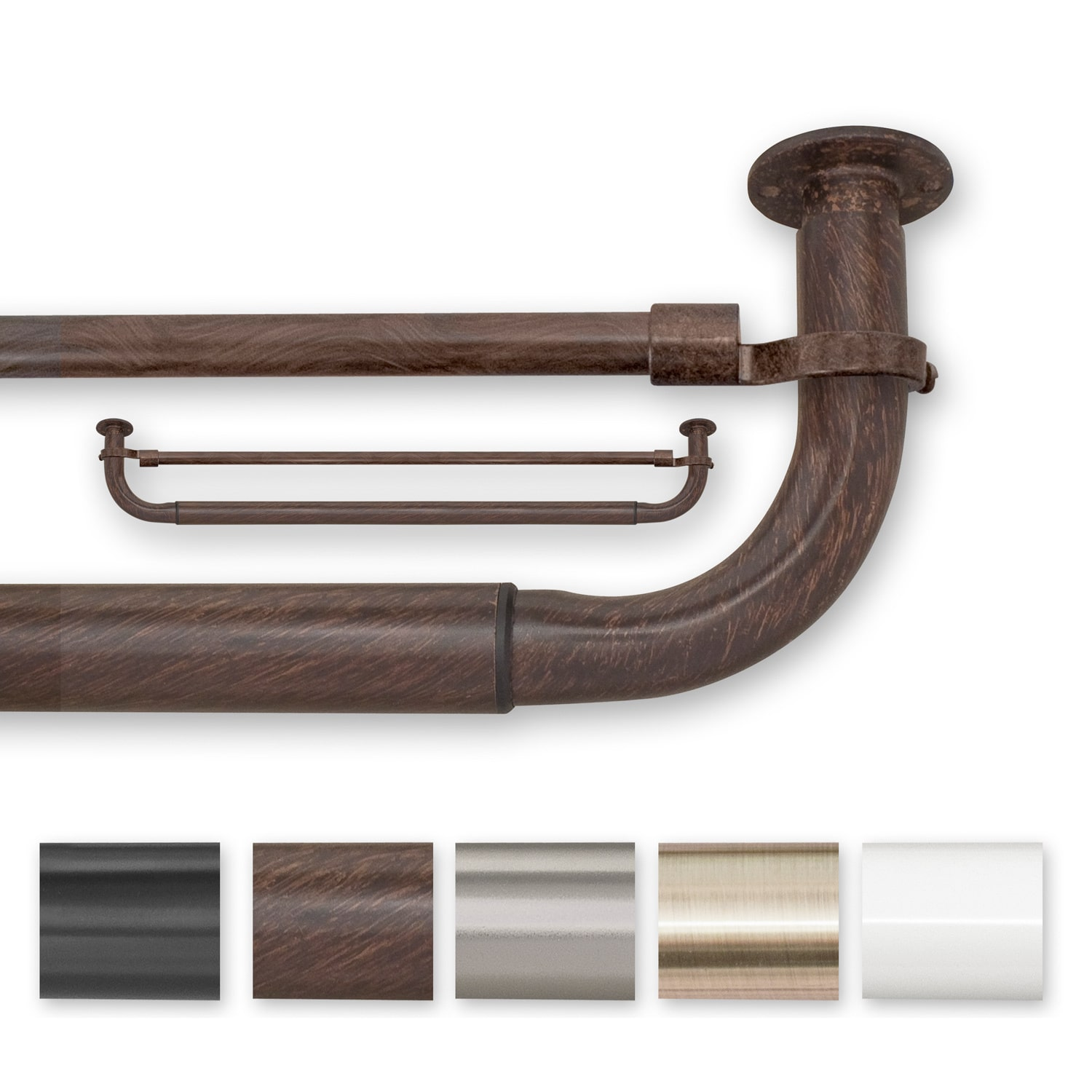Source Global Enterprises Pinnacle Barricade 96 to 144 Inches Double Window Hardware by Overstock