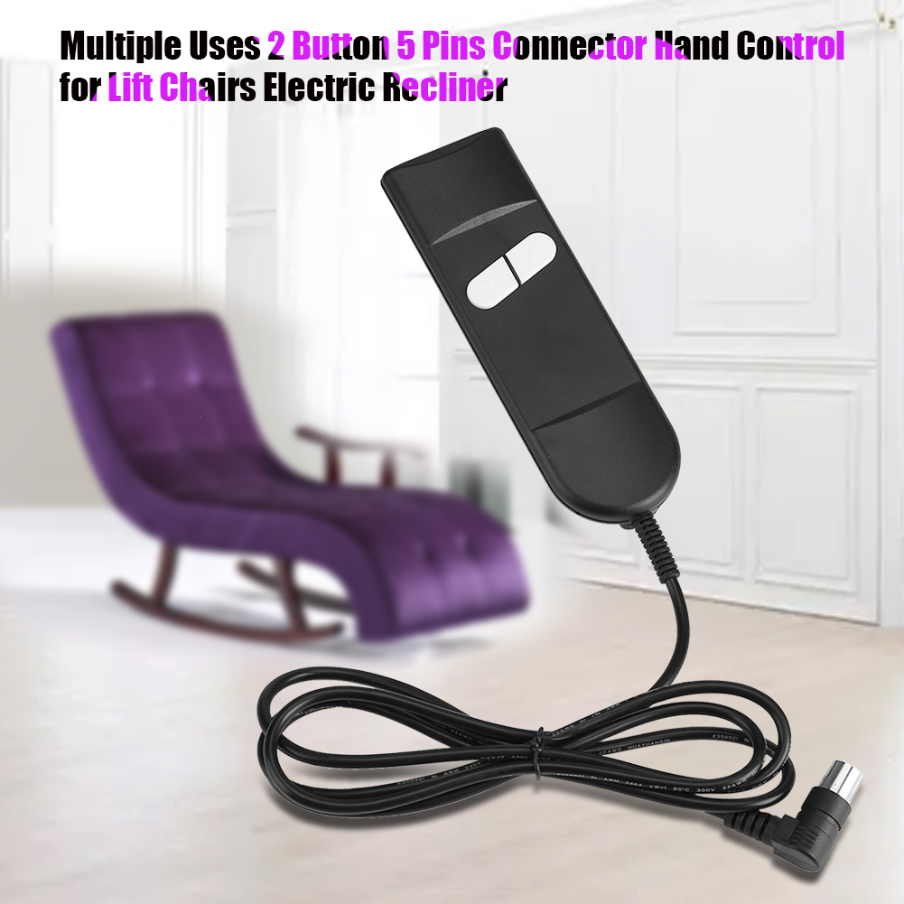Knifun  Recliner Chair Controller - Multiple Uses 2 Button 5 Pins Connector, Hand Control for Lift Chairs Electric Recliner