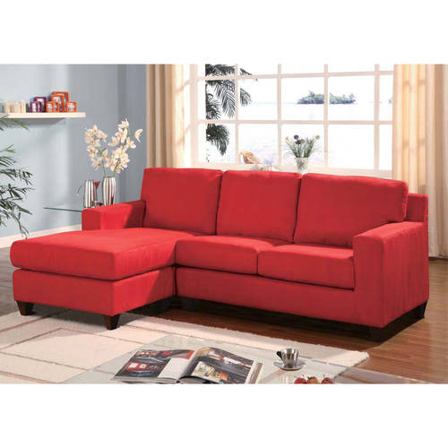 Acme Vogue Microfiber Reversible Chaise Sectional Sofa, Multiple Colors by Acme Furniture