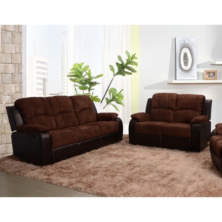 Beverly Fine Furniture Pamela 2 Piece Microfiber Reclining Living Room Sofa S