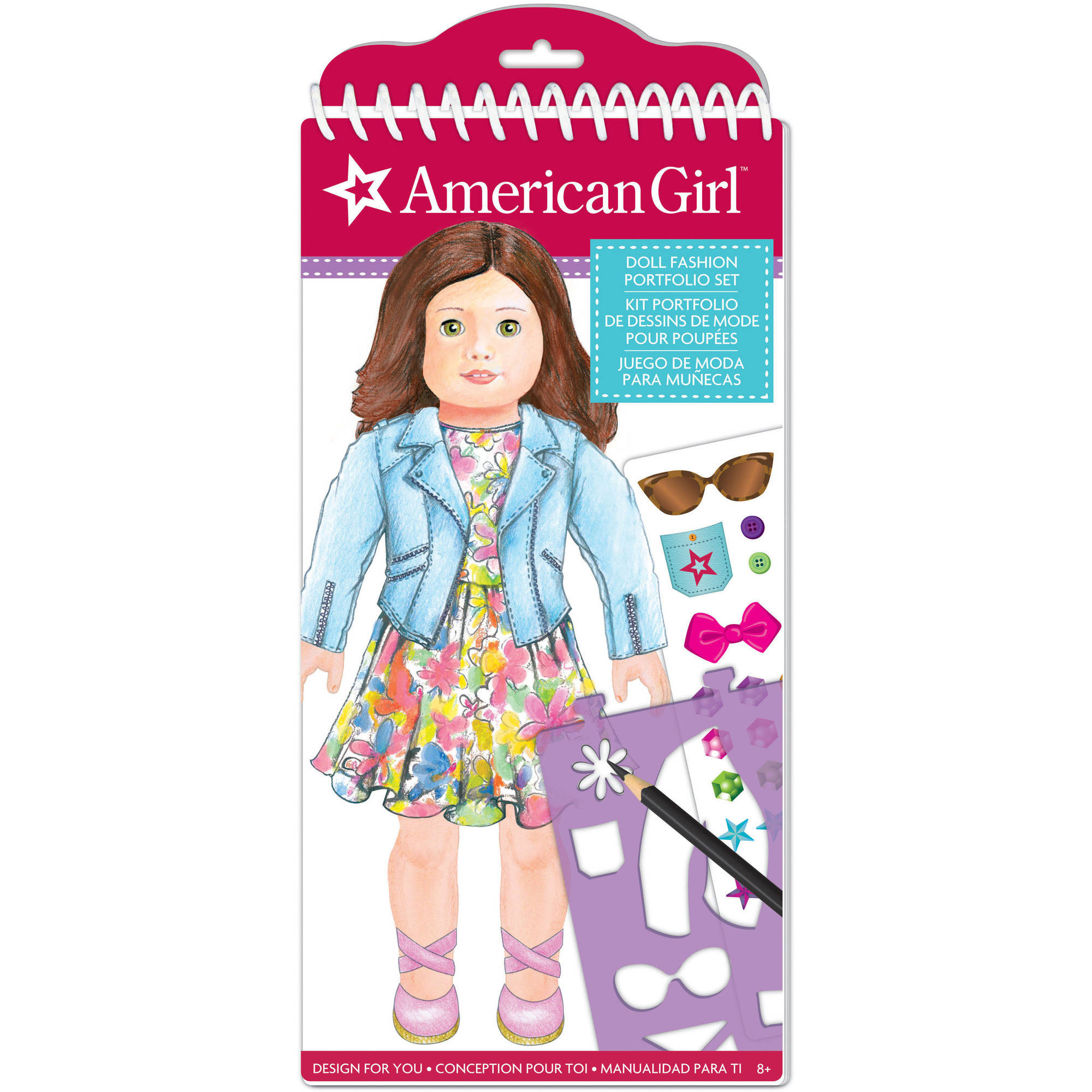 American Girl Fashion Design Sketch Portfolio by Generic