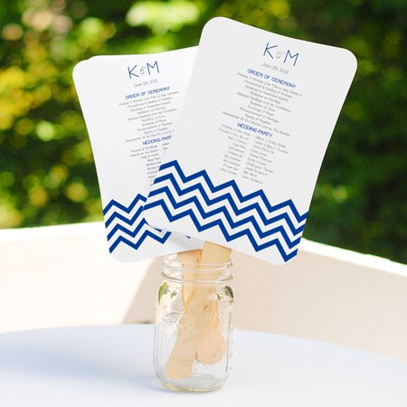 DIY Wedding Program Fans Scroll Fan Kit