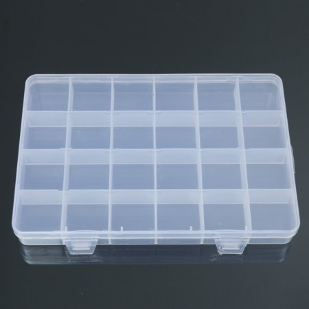 Meigar 24 Compartments Plastic Box Case Jewelry Bead Storage Container Craft Organizer](Craft Storage Containers)