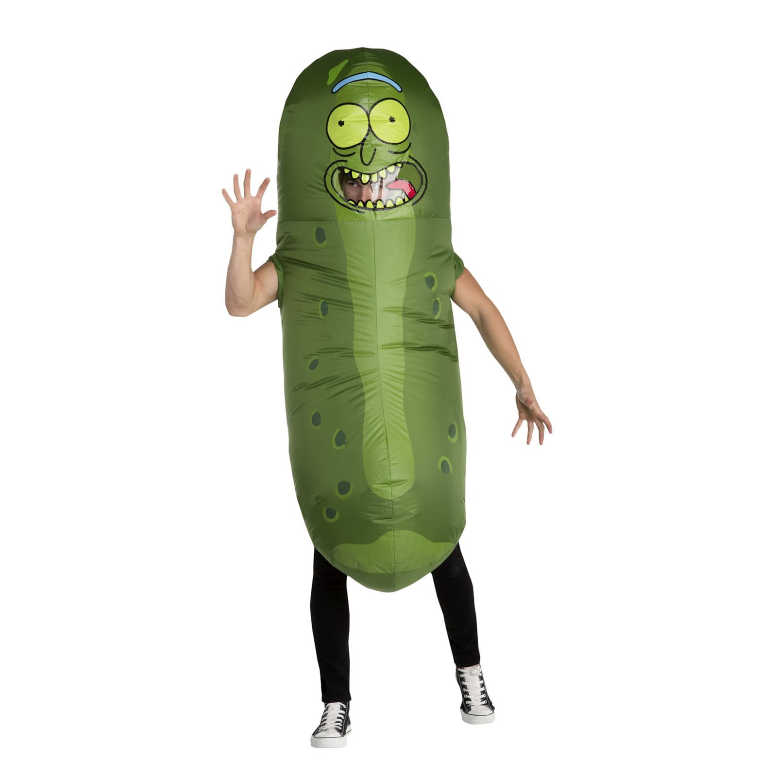 Rick And Morty Foam Pickle Rick Funny Tv Show Halloween Costume