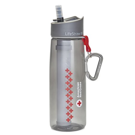 American Red Cross Water Bottle with 2-stage Filter System