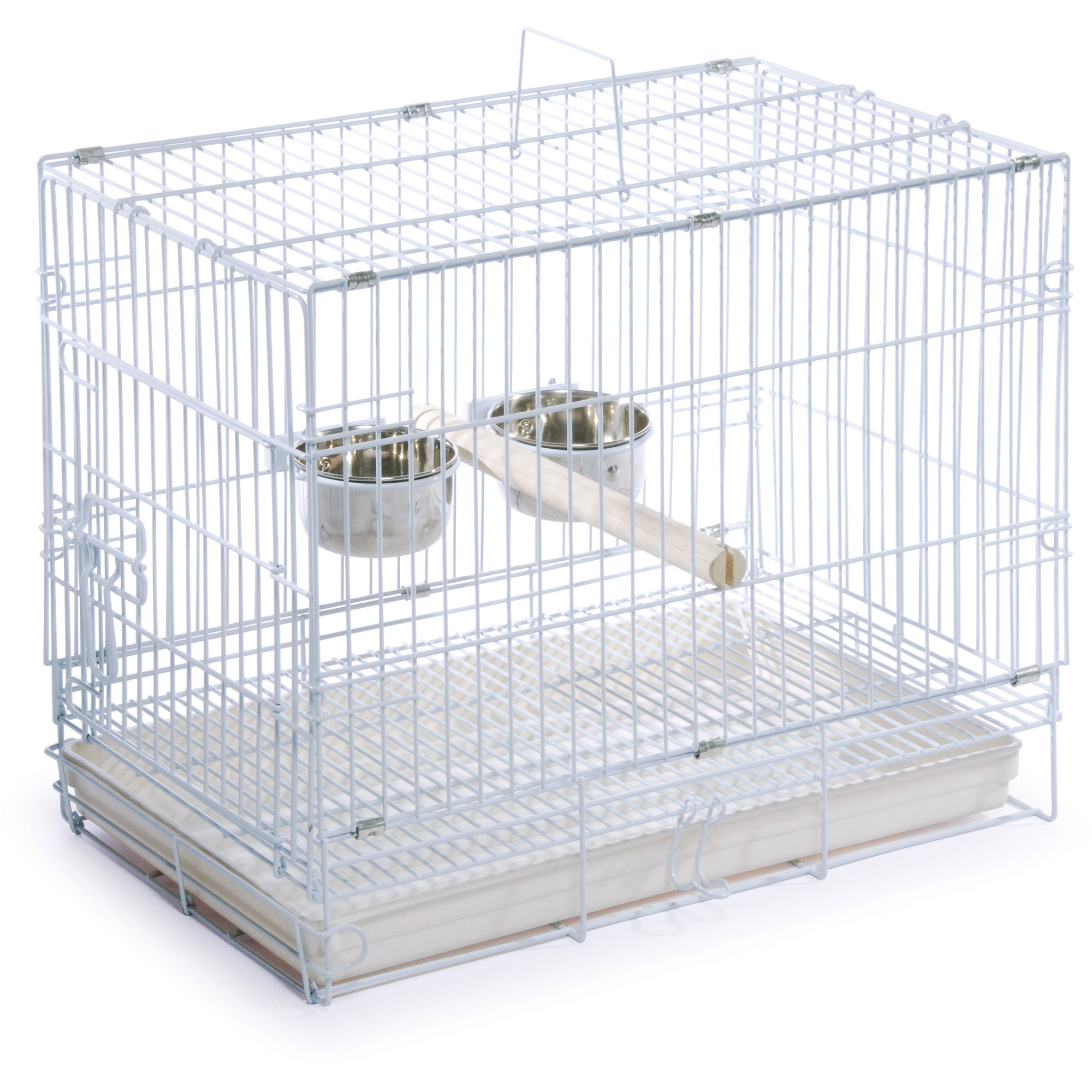 Prevue Pet Products Travel Cage, White