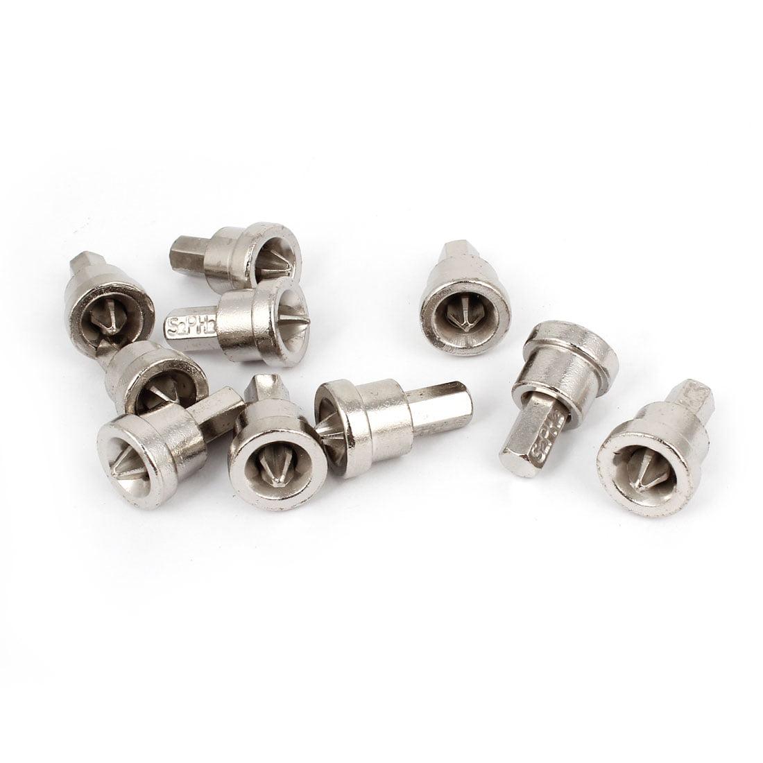 6mm PH2  Hex Shank Dimpler Drill Bit Drywall Screw 10 Pcs
