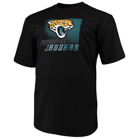 Men's Majestic Black Jacksonville Jaguars Big & Tall Reflective T-Shirt