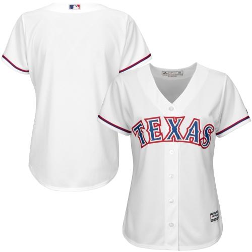 Texas Rangers Majestic Women's Cool Base Jersey - White