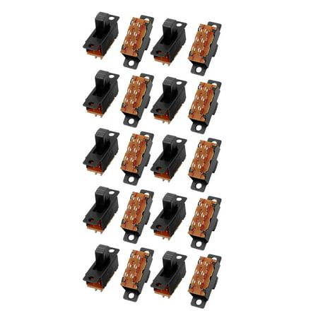 20pcs DPDT 2 Position 6 Terminals Panel Mount Horizontal Slide - Dpdt Slide Switch