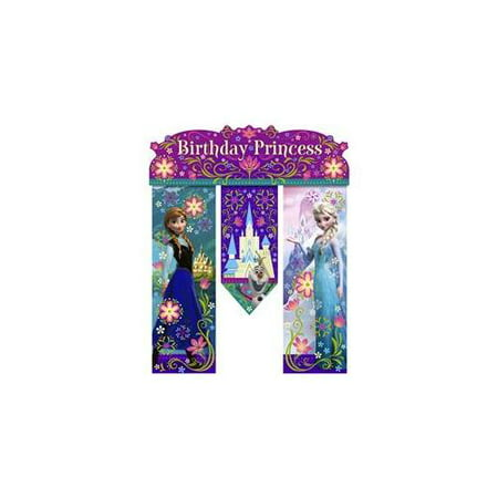 Disney's Frozen Birthday Banner (Each) - Party Supplies (Clifford Party Supplies)