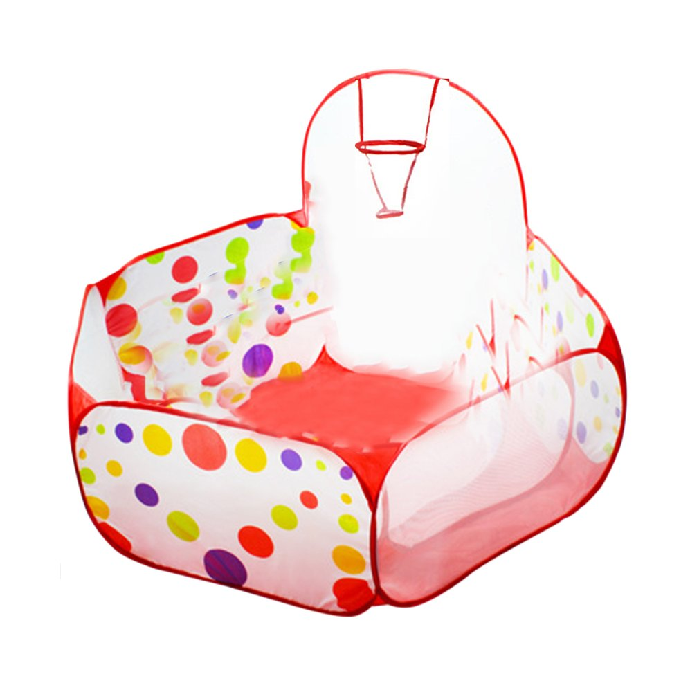 Polka Dot Pattern Foldable Kids Play House Tent Outdoor Basketball Tent multicolor