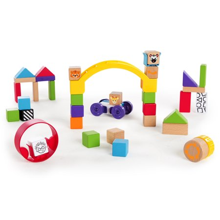 Baby Einstein Curious Creator Kit Wooden Blocks Discovery Toy, Ages 12 months +