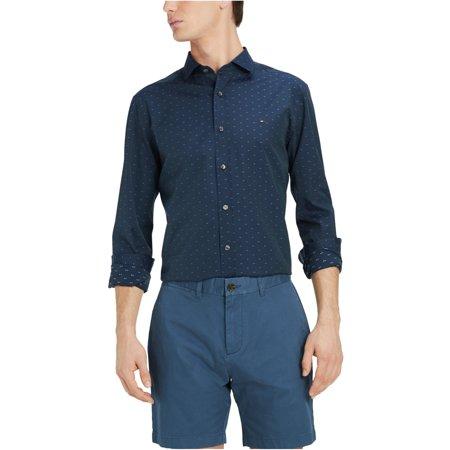 Tommy Hilfiger Mens Ashburn Dobby Button Up Shirt