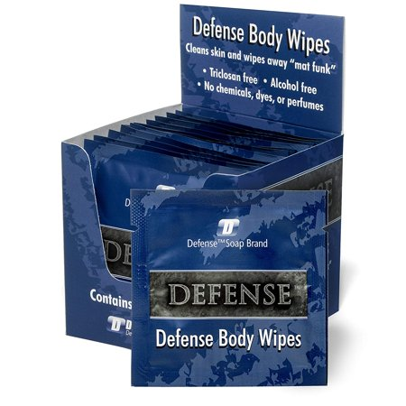 Body Electrical Wiper - Defense Soap Body Wipes 12 Individually Packed Wipes | 100% Natural and Pure Pharmaceutical Grade Tea Tree Oil and Eucalyptus Oil Help Wash Away Ringworm, Jock Itch, Athlete's Foot, Acne, Psoriasis