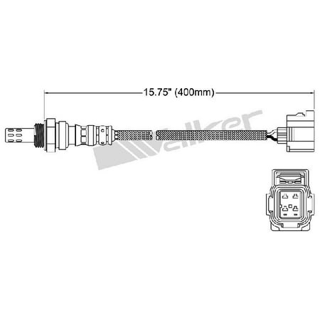OE Replacement for 2003-2009 Chrysler PT Cruiser Upstream Oxygen Sensor (Base / Classic / Couture Edition / Dream Cruiser / GT / LX / Limited / Street