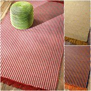 Nuloom  Handmade Cotton Striped Reversible Flatwoven Fancy Rug (5' x 8')