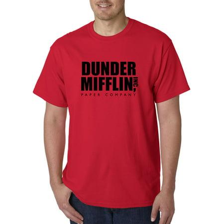 New Way 1165 - Unisex T-Shirt Dunder Mifflin Inc Paper Company Office Logo Medium Red