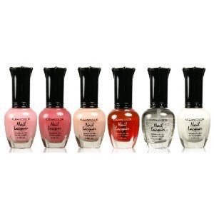 Kleancolor Collection- full size FRENCH Manicure Nail Polish 6pc (Best French Manicure Set)