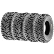 SunF All Trail Quad ATV UTV Tires 25x8-12 & 25x10-12 6 PR A032 (Complete full set of 4)