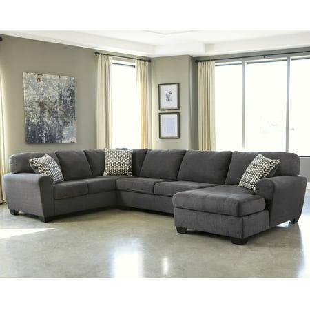 Awesome Flash Furniture Benchcraft Sorenton 3 Piece Laf Sofa Sectional In Slate Fabric Uwap Interior Chair Design Uwaporg